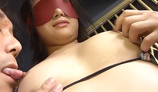 Chick from Asia gets muff vibed by tireless vibrator