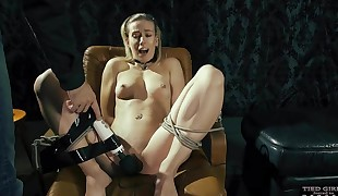 Tied climax in the armchair
