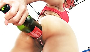 WINE BOTTLE Inwards ASS AND Cooch Also SODA CANS Xtreme Crevices