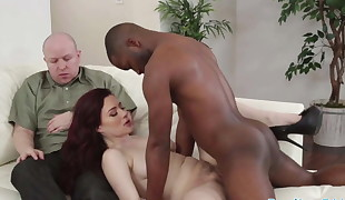 Cuckolding wife screwed by ebony cock