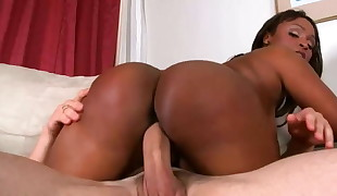 big-titted ebony milf gets banged and jizzed on her booty