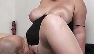 Boss tears up big tits assistant from behind