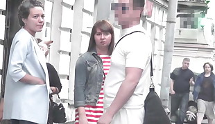 BULGE DICK FLASH ON STREET 2 (social experiment)